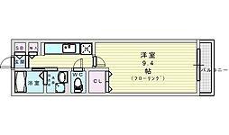 MATSU-KAZE 1階1Kの間取り