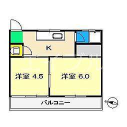 宇田見ハイツ[3階]の間取り