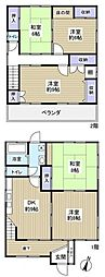 [一戸建] 千葉県船橋市芝山6丁目 の賃貸【/】の間取り
