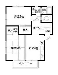 グランドールイズミIII(グランドールイズミ3)[1階]の間取り
