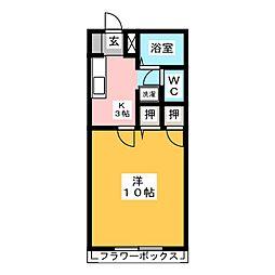 コアロード佐藤 A[1階]の間取り