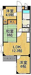 ライブ武庫之荘[2階]の間取り