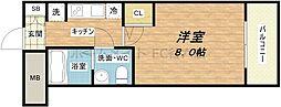 SERENiTE堺筋本町SUD[4階]の間取り