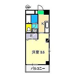 フィネス九反田[3階]の間取り