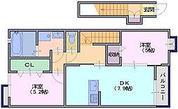 シエルブルー1[2階]の間取り