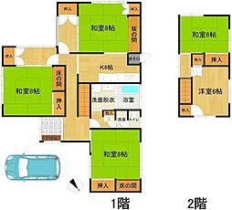 [一戸建] 福岡県福岡市中央区小笹1丁目 の賃貸【/】の間取り