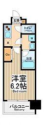 グランドガーラ川崎西口 4階1Kの間取り