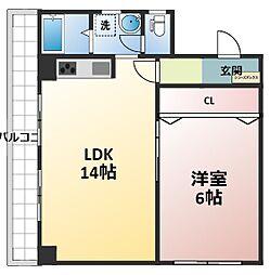 新大阪和光[4階]の間取り
