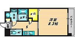 Forest Grace 高井田I 2階1Kの間取り