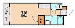 リビング城南II[1階]の間取り