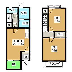 [テラスハウス] 岐阜県美濃加茂市本郷町2丁目 の賃貸【/】の間取り