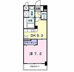 ハミングバード上吉田[3階]の間取り