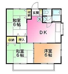 ビッグハウス金井3[2階]の間取り