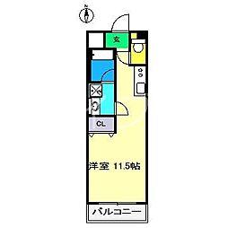 インフェリタンス若草[3階]の間取り