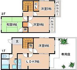 [テラスハウス] 兵庫県神戸市西区上新地2丁目 の賃貸【/】の間取り