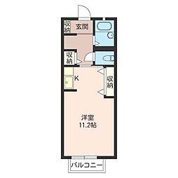 ドルフ湘南 II[2階]の間取り