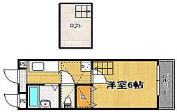 ベレッツァ灰塚[303号室]の間取り