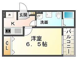 兵庫県尼崎市武庫之荘本町2丁目の賃貸アパートの間取り