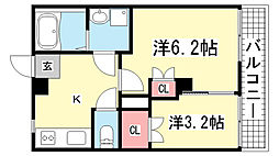 品川マンション[5F号室]の間取り
