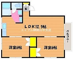 徳山コーポ[2階]の間取り