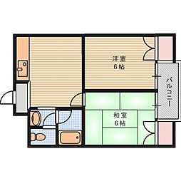 ハムロハイツ杉田[2階]の間取り