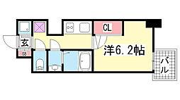 ララプレイス三宮ルミナージュ[6階]の間取り