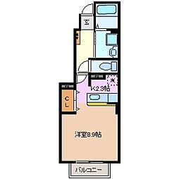 三重県四日市市別名2丁目の賃貸アパートの間取り