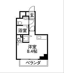 リベール名駅南[4階]の間取り