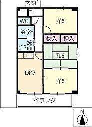 シャルムA棟[1階]の間取り