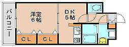 サンライク箱崎[5階]の間取り