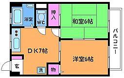 東京都調布市佐須町4丁目の賃貸マンションの間取り