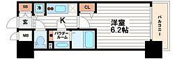 プレサンスタワー北浜[6階]の間取り