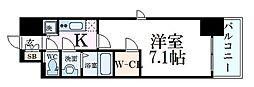 JR東海道・山陽本線 三ノ宮駅 徒歩9分の賃貸マンション 13階1Kの間取り