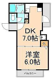 ランドピア西浅草[7階]の間取り