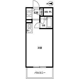 ハイネスプラザ新宿第五[2階]の間取り