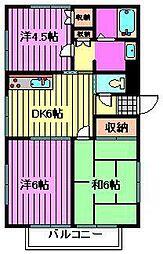 コーポ萩原[2階]の間取り