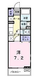 埼玉県八潮市大字南川崎の賃貸アパートの間取り