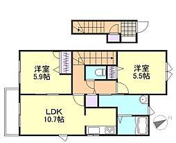 グランマスト平田C棟[2階]の間取り