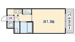パンセ堀川[603号室号室]の間取り