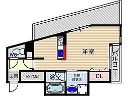 協同レジデンス千里丘[7階]の間取り