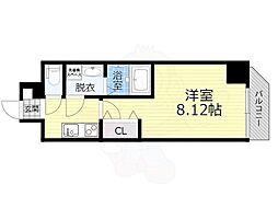 JR大阪環状線 桜ノ宮駅 徒歩6分の賃貸マンション 1階1Kの間取り