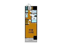 Osaka Metro中央線 阿波座駅 徒歩5分の賃貸マンション 8階1Kの間取り