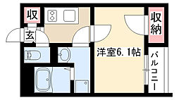 愛知県名古屋市瑞穂区御劔町3丁目の賃貸アパートの間取り