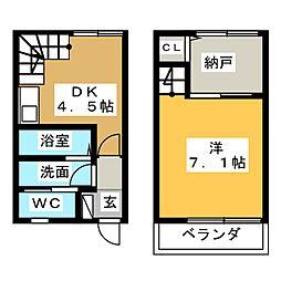 [テラスハウス] 静岡県焼津市大栄町3丁目 の賃貸【/】の間取り