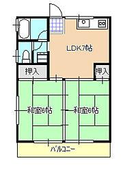 ビオラ・ウメダ[1階]の間取り