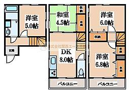 [一戸建] 大阪府堺市中区大野芝町 の賃貸【/】の間取り
