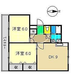 泉野ハイツ[2階]の間取り