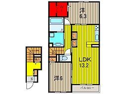 仮)D-room新曽南[2階]の間取り