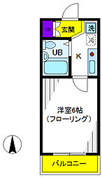 メゾンみすみ[2階]の間取り
