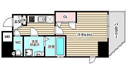 ファーストフィオーレ福島野田 7階1Kの間取り